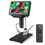 Andonstar AD407 3D HDMIはんだ付けデジタル顕微鏡 270X 4MP UHDビデオカメラ顕微鏡、電話用SMD SMTを修復するための7インチ調整可能なLCD画面