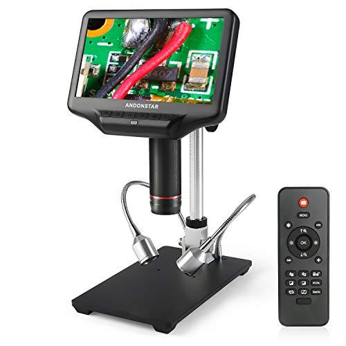 Andonstar AD407 3D HDMI Löten Digital Mikroskop mit 4MP UHD und 7 Zoll Einstellbarer LCD Bildschirm USB Video Mikroskope für Telefon Reparatur SMT SMD DIY