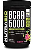 NutraBio BCAA 5000 Powder - Vegan Fermented BCAAs -...