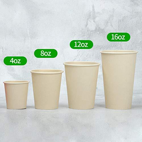 Warmwin 50 einfarbige Einweg-Pappbecher für heißes und kaltes Trinken 4 Unzen 8 Unzen 14 Unzen 16 Unzen Kaffee Tee Saft Soja Verpackungsbecher Haushaltswasserbecher 4oz_100ml_100pcs