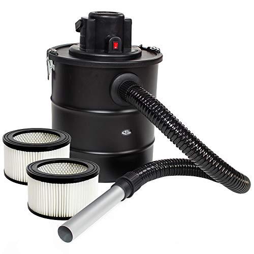 TecTake Aspirateur à Cendres 20L Moteur motorisé 1200 Watt et Filtre cheminée BBQ poêles // avec SGS-Certificat (Aspirateur de à Cendres + 3 Filtre | no. 401049)