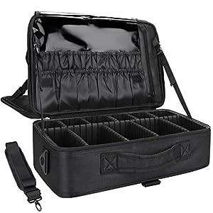 2ba5a621e0d8  70 MONSTINA Large Capacity Makeup Case 3 Layers Cosmetic Organizer Brush Bag  Makeup Train Case Makeup Artist…