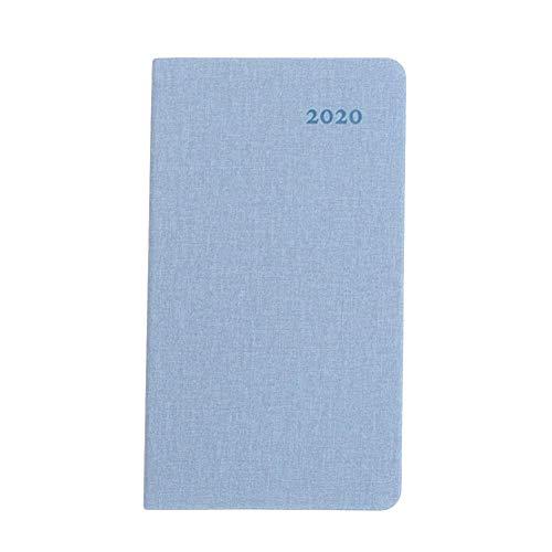 delibett Agenda Cuaderno Semanal 2020 Cuaderno A6 Pocket Calendar Portable, Planificador Semanal Mensual con A6 Cuadernos De Tapa Dura Y Diario Business Journal Travel Daily Record