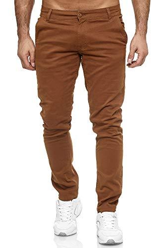 Elara Pantalon Chino Homme Régulier Slim Fit Chunkyrayan MEL009-Camel-30/32