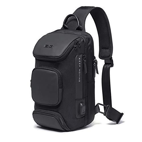Sling Bag for Men Shoulder Crossbody Bags Sling Backpack with USB Charging Port Waterproof Travel...