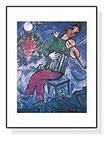 ポスター マルク シャガール Le Violiniste Bleu