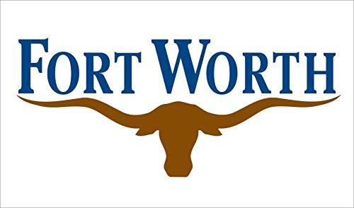 magFlags Drapeau Large Fort Worth   Fort Worth, Texas   Drapeau Paysage   1.35m²   90x150cm