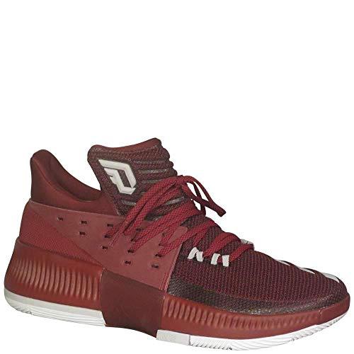 adidas Men's Dame 3 Maroon-White, Size 10.5