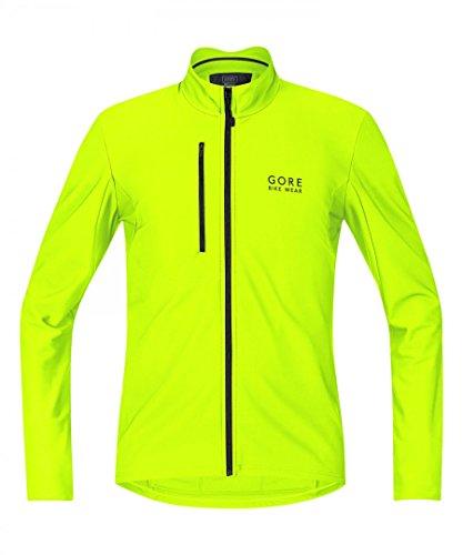 Gore Bike Wear- Camiseta térmica de hombre para ciclismo, Amarillo (Neon Yellow), M