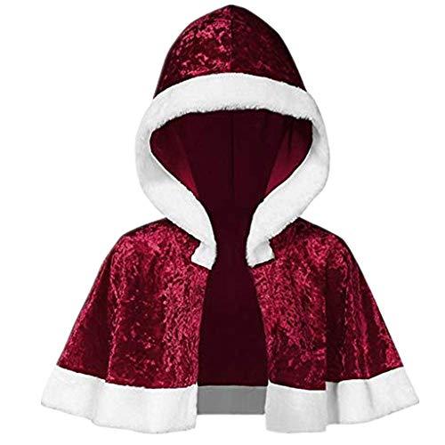 Dasongff dames kerstkostuum Kerstmis kostuum omhang mantel volwassenen kind kostuum carnaval carnaval cape rood fluweel