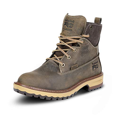 Timberland PRO Women's Hightower 6 Inch Soft Toe Waterproof Work Boot, Turkish Coffee Full Grain Leather, 8