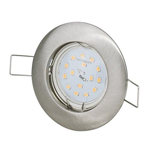 Einbaustrahler + 12Volt DC 5Watt 390Lumen LED warmweiss Abstrahlwinkel: 120Grad + 12Volt Leuchtmittelfassung