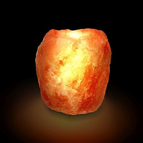 Biova Salz Kristall Teelicht Halter Himalaya* - groß 900-1200g Qualität -aus der Salt Range Pakistan