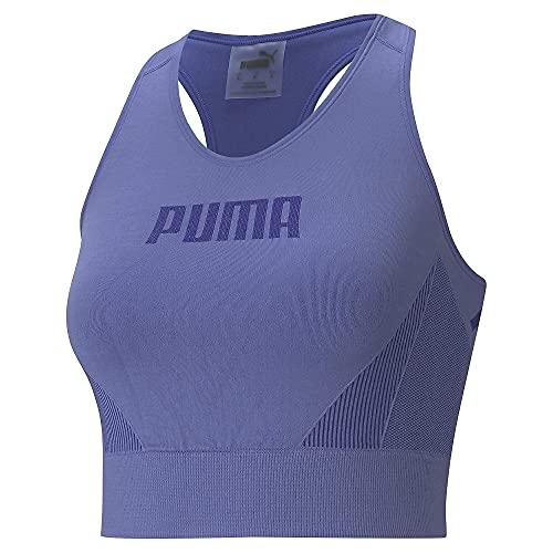 PUMA Evostripe Evoknit Bra Top Sujetador Deportivo, Mujer, Hazy Blue, XS