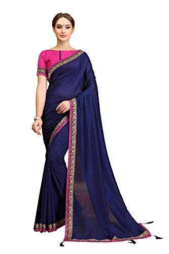 Soru Fashion Women's Cotton Silk Saree With Blouse Piece (