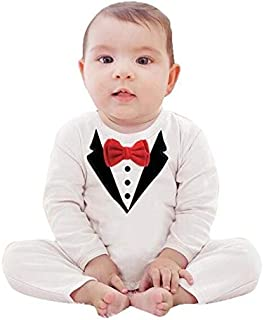 suit and tie White Romper For Boys