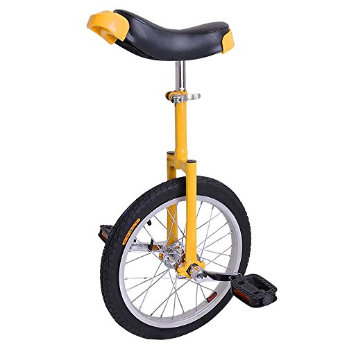 """AW 16"""" Inch Wheel Unicycle Leakproof Butyl Tire Wheel Cycling Outdoor Sports Fitness Exercise Health Yellow"""
