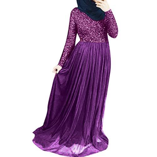 KEERADS- Abaya - Chaqueta de mujer musulmana Dubai Kimono, para mujer Dubai moderna, Abaya Dubai morado XXXXL