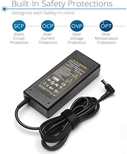 19.5V Power Supply Cord for Sony Bravia TV W600B KDL-40R510C KDL-40W600B KDL-40W600D KDL-32W600D KDL55W650D KDL48W600B KDL-32W700B KDL-48R510C KDL-40S4100 KDL-40S4100 24'' 32'' 40'' 42'' 48' Charger