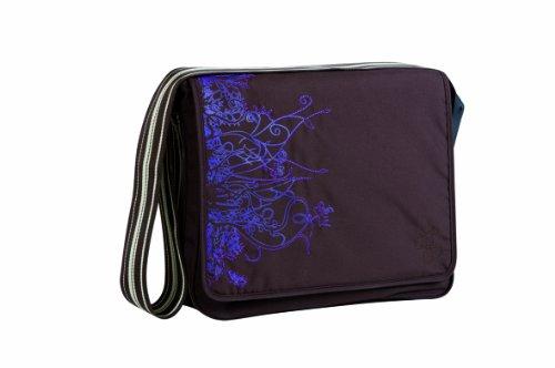 Casual Messenger Bag - luiertas Verticaal, chocolade.