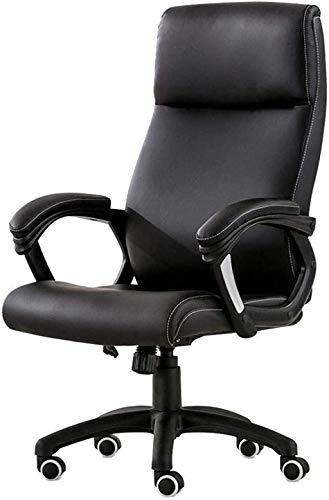 Silla giratoria de oficina, silla de videojuegos, altura ajustable, malla para ordenador, hogar, acolchado, color negro, tamaño: H (106-114) cm)