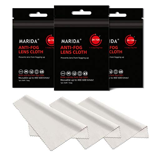 MARIDA Lens Cleaning Wipes, Individually Wrapped Anti Fog Wipes for Glasses, Great for Glasses, Goggles, Face Shields, Helmets, Phones, Tablets.