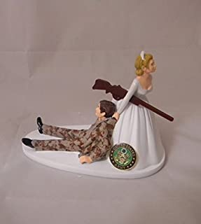 Wedding reception Army Military Camo Hunter Hunting Cake Topper