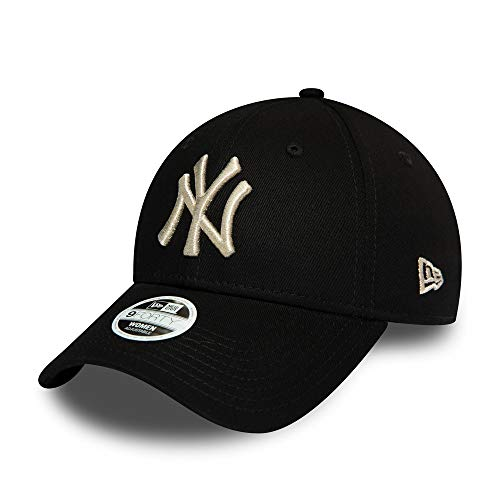 New Era New York Yankees 9forty Adjustable Women Cap Metallic Logo Black/Silver - One-Size