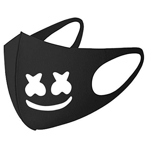 qupengyou Veiligheid 9 Stijlen Marshmello Gedrukt Anti-Stof Gezicht Maskers Ultra-Dunne Ademende Stofdichte Mond Masker Voor Unisex Vrouwen Mannen