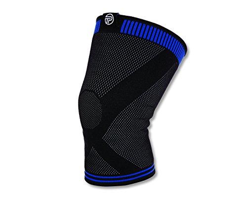 Pro-Tec Athletics klein schwarz/blau 3D flach Premium Knie Sleeve