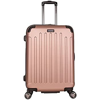 Kenneth Cole Reaction Renegade 24  ABS Expandable 8-Wheel Upright Rose Gold inch Checked