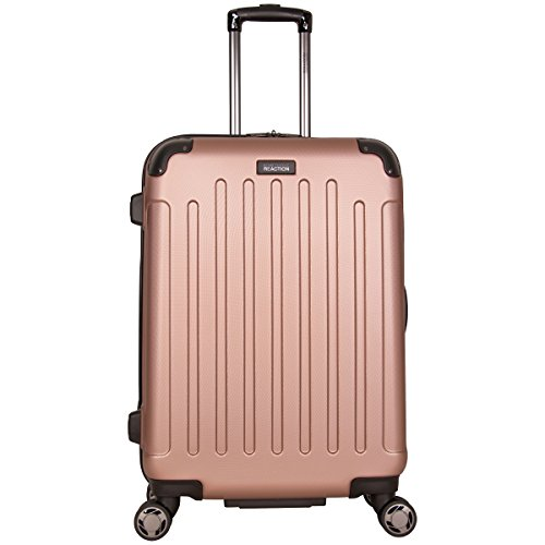"""Kenneth Cole Reaction Renegade 24"""" ABS Expandable 8-Wheel Upright, Rose Gold, inch Checked"""