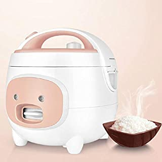 SHAAO 2L 400W Rice Cooker Household Electric Rice Cooker Kitchen Cooking Tool with Non-Stick Liner Electric Cooker