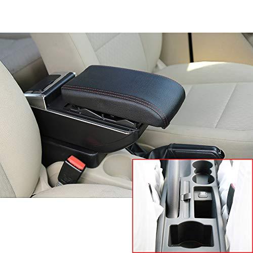 Für 2007-2014 S koda Octavia A5 Yeti Luxus Auto Armlehne Mittelarmlehne mittelkonsole Zubehör Eingebaute LED-Licht Schwarz