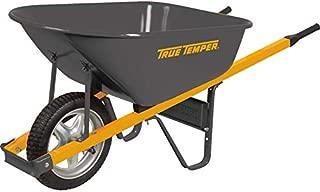 The Ames Companies, Inc R6STSP25 True Temper Never Flat Tire Steel Wheelbarrow, 6 Cubic Foot