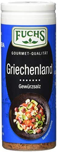 Fuchs Gewürze Griechenland Gewürzsalz - in der praktischen Streudose, 4er Pack (4 x 50 g)