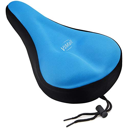 ViMall Bike Saddle Cover/Bike Seat Cover, Unisex Extra Comfortable Sillicone&Memory Foam Padded Soft Gel Relief Cycling Bicycle Bike Saddle Seat Cushion Pad Cover for Montain/Road Ride Race