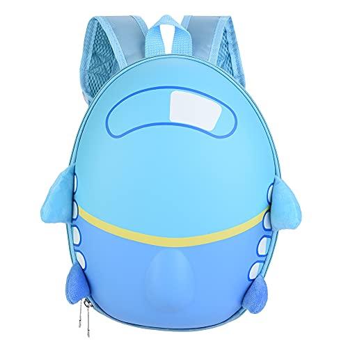 YIFengFurun Mochila de dibujos animados 3-8 años niños q lindo avión huevo shell mochila niños escuela bolsa