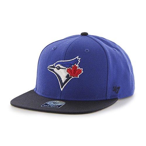 '47 MLB Toronto Blue Jays Sure Shot Two Tone Captain Wool Adjustable Hat, One Size, Royal