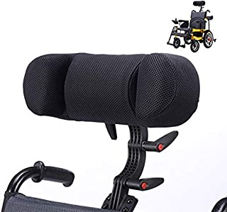 Wheelchair Headrest Neck Support Comfortable Seat Back Cushion Pillow,Universal Electric Wheelchair PU Elastic Pillow,Adjustable High and Low Size