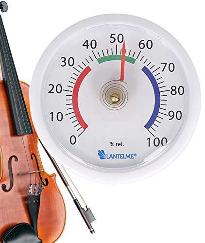 Lantelme muziekinstrumenten hygrometer zelfklevend viool gitaar viool muziek koffer mini luchtvochtigheidsmeter 8009
