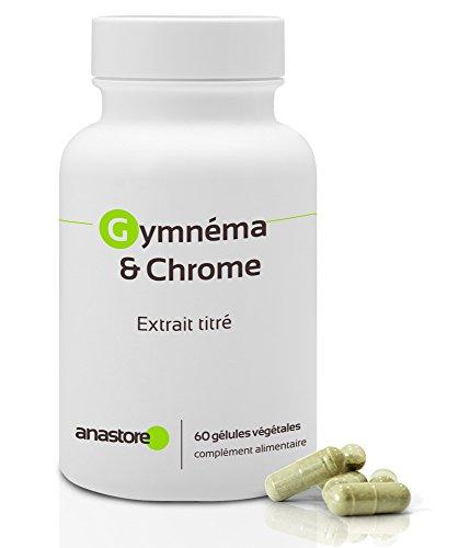 GYMNEMA & CHROME * 400 mg / 60 gélules * Cardiovasculaire (glucose) * Garantie Satisfait ou Remboursé * Fabriqué en France