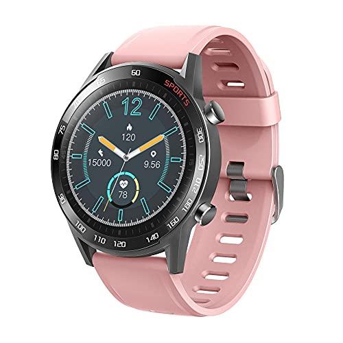 Reloj Inteligente Mujer Hombre,Recordatorio de mensaje de llamada, pulsera inteligente de monitorización de la salud de la temperatura corporal, rosa,Pulsera de Actividad Inteligente Reloj Deportivo