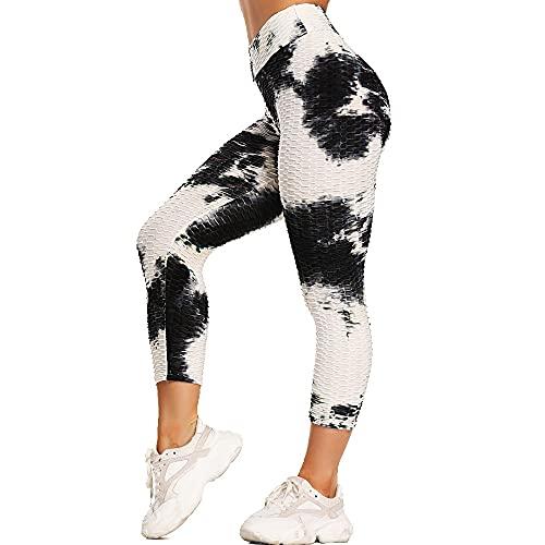 QTJY Leggings para Mujer, Pantalones Deportivos Push-up, Abdomen, Caderas y Pantalones Deportivos de Yoga de Cintura Alta, AL