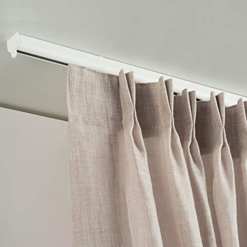 X-PROFILES Binario per Tende Arricciate - Installazione a Soffitto - in Alluminio Dim. 22,5X20 mm - Completo per l'Installazione (160 CM)