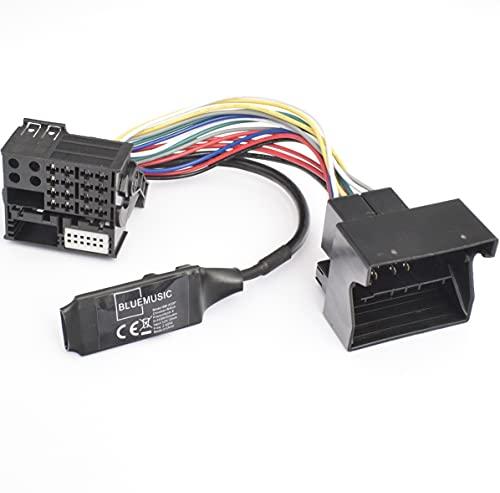 BlueMusic Bluetooth Musik Adapter kompatibel mit BMW E39 E46 E53 X5 Z4 E83 X3 Flachpin 40pin Quadlock New Generation Radio