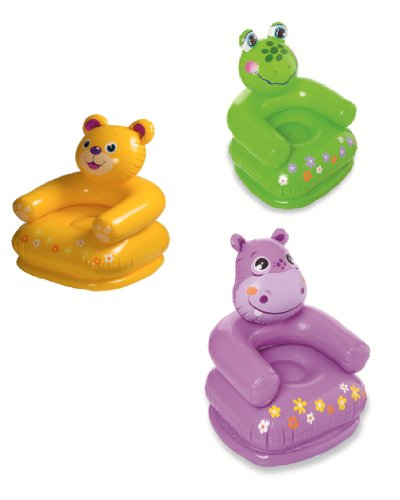 Intex 68556NP - Happy Animal Chair - Kindersessel, Teddy, 65 x 64 x 74 cm