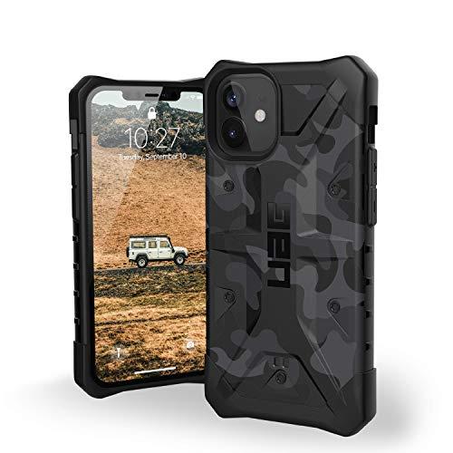 "Urban Armor Gear Pathfinder Hülle Apple iPhone 12 Mini (5,4\"" Zoll) Schutzhülle (Wireless Charging kompatibel, Fallschutz nach Militärstandard, Sturzfeste Handyhülle, Ultra Slim) Midnight camo"