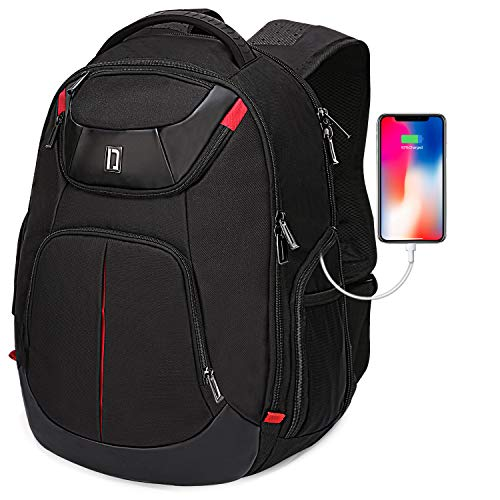 Heendzoo 17.3 in Large Laptop Backpack- USB Charging Port Backpack for Men with RFID Protection Business Backpack, Big Travel TSA Backpacks & School Bookbags