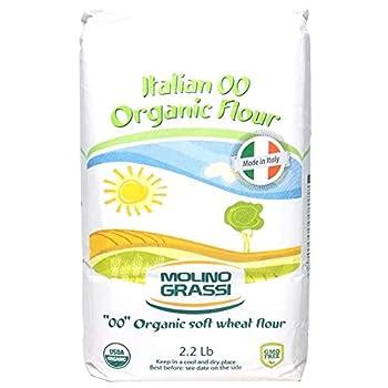 Molino Grassi USDA Organic Italian  00  Soft Wheat Flour - 2.2 lb  2 Pack